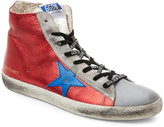 Golden Goose Deluxe Brand Red Francy High Top Sneakers