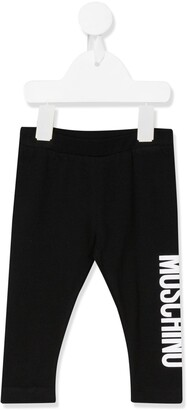 MOSCHINO BAMBINO Two Tone Logo Print Leggings