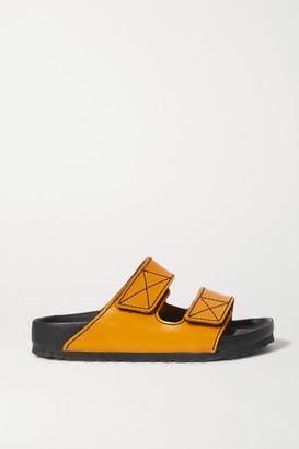 Proenza Schouler Birkenstock Arizona Topstitched Glossed-leather Sandals - Yellow