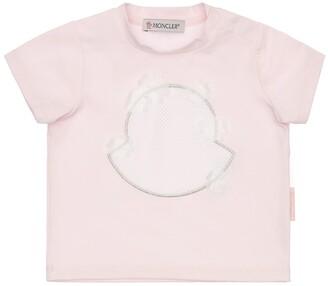 Moncler Cotton Jersey T-Shirt W/ Flowers