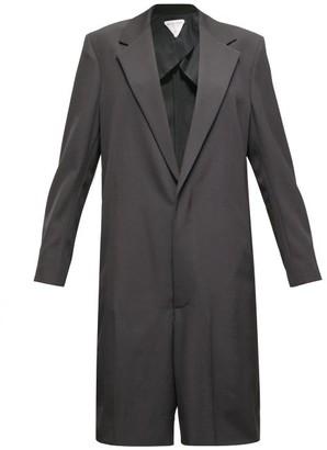 Bottega Veneta Single-breasted Wool-twill Playsuit - Black