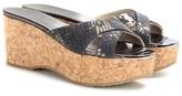 Jimmy Choo Prima Cork Wedge Sandals