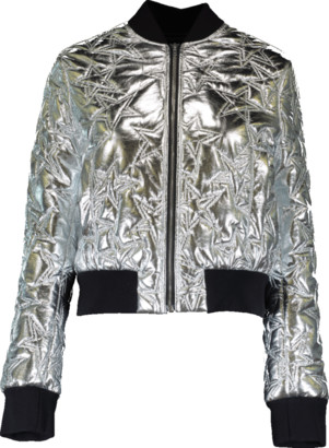 MSGM Silver Star Bomber Jacket