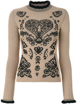 RED Valentino ribbed intarsia jumper