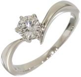 Mikimoto Platinum 0.32 Ct Diamond Solitaire Ring Size 4.75