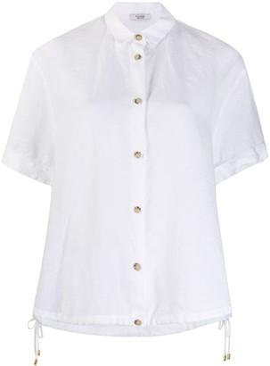 Peserico Short-Sleeve Button Shirt