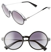Valentino Women's 53Mm Round Sunglasses - Black Crystal