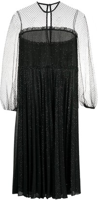 Marco De Vincenzo Sheer Panel Dress