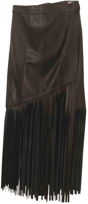 Tamara Mellon Black Leather Skirt for Women