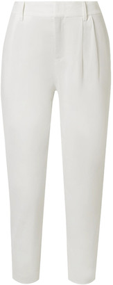 Vince Cropped Linen-blend Tapered Pants