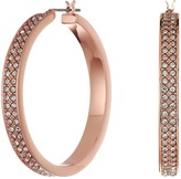 Lauren Ralph Lauren Rose Palais Large Pave Hoop Earrings