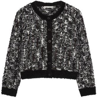 Alice + Olivia Devona monochrome boucle tweed jacket