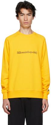 Billionaire Boys Club Yellow Embroidered Logo Sweatshirt