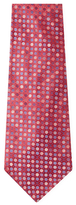 Chanel Vintage Red Dot Silk Jacquard Tie