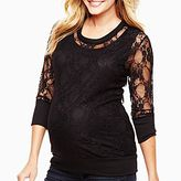 JCPenney Maternity Long-Sleeve Lace Shirt