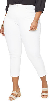 NYDJ Plus Plus Size Ami Skinny Ankle Crop with Split Hem