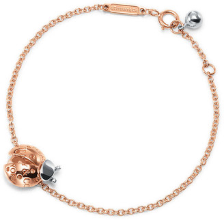 Tiffany & Co. Return to TiffanyTM Love Bugs ladybug chain bracelet in 18k rose gold and silver