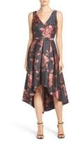 Eliza J Women's Floral Jacquard Fit & Flare Dress