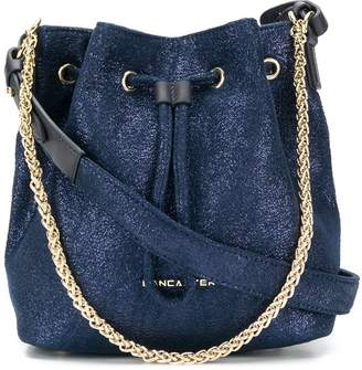 Lancaster drawstring bucket bag