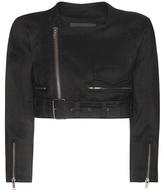 Haider Ackermann Cropped Linen And Wool-blend Jacket