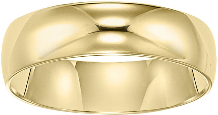JCPenney FINE JEWELRY Wedding Band, Womens 5mm 10K Gold