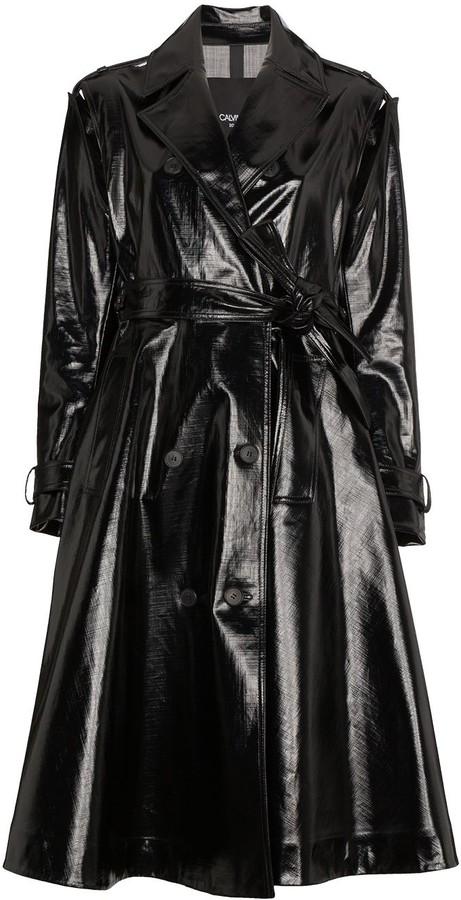 Calvin Klein Vinyl Trench Coat