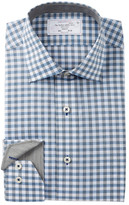 Lorenzo Uomo Heathered Check Trim Fit Dress Shirt