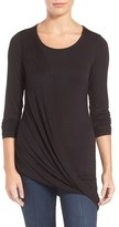 KUT from the Kloth Jerrica Asymmetrical Draped Tee