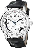 Frederique Constant Men's FC718MC4H6 World Timer Analog Display Swiss Automatic Black Watch