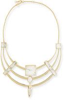 Alexis Bittar Geometric Howlite Armor Bib Necklace