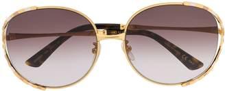 Gucci round oversized sunglasses