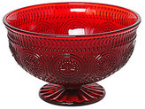 Southern Living Holiday Sunflower Embossed Glass Footed Fruit Bowl