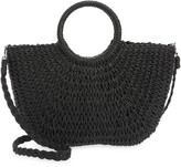 Thumbnail for your product : Mali & Lili Half Moon Woven Straw Tote