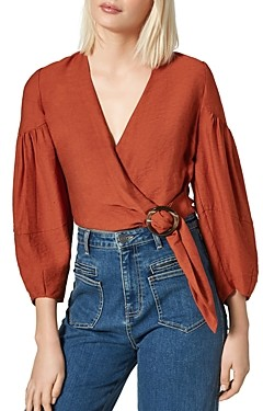Joie Sophiana Buckled-Waist Top