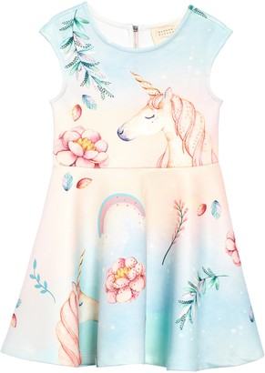 Hannah Banana Unicorn Scuba Fit & Flare Dress
