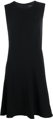 Theory Crepe Fit-And-Flare Dress