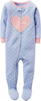 Carter's Girl Long-Sleeve Dot Footed Pajamas - Toddler Girls 2t-5t