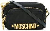 Moschino letters zipped crossbody bag