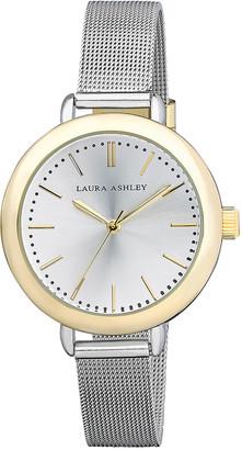 Laura Ashley Women's Watches - Two-Tone Mesh Bracelet Watch
