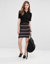 Only Stripe Co-ord Tube Skirt
