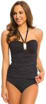 Bleu Rod Beattie Gilt Trip Solid Halter Bandeau Tankini Top 8140013