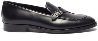 Edhèn 'St Louis' slant monk strap leather shoes