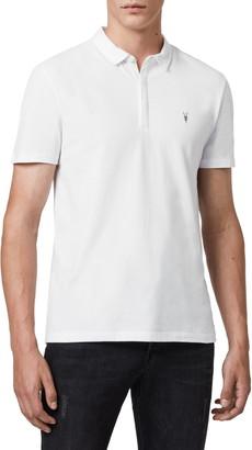 AllSaints Brace Slim Fit Solid Polo