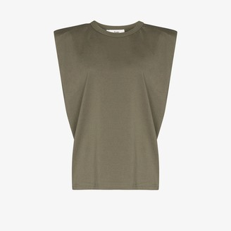 Frankie Shop Eva padded cotton T-shirt