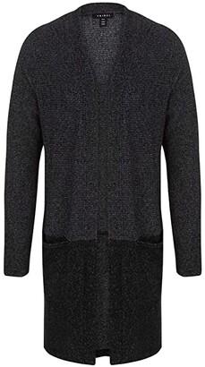 Tribal Long Sleeve Cardigan with Pocket (Black) Women's Sweater