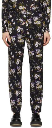 Davi Paris Black Adeline Print Trousers