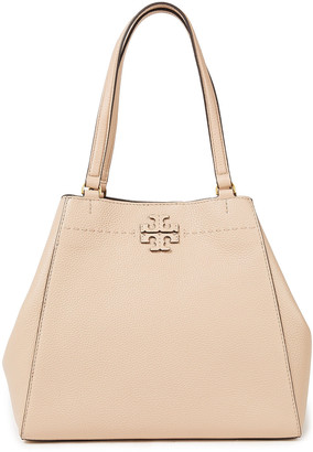 Tory Burch Mcgraw Pebbled-leather Tote