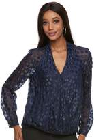 JLO by Jennifer Lopez Women's Dot Crossover Top
