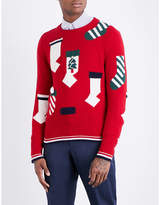 Thom Browne Holiday Stockings Wool Jumper