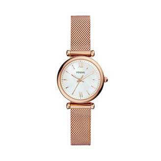 Fossil Women's ' Carlie Quartz Stainless-Steel-Plated Casual Watch